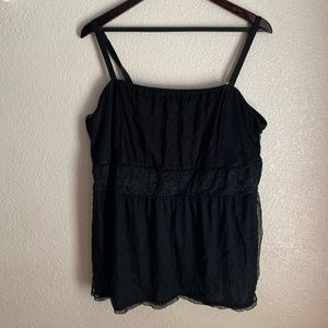 Torrid Black Lace Overlay Tank Size 3